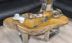 Couchtische und esstische aus einem baumstamm der tischonkel for Wohnzimmertisch baumstamm