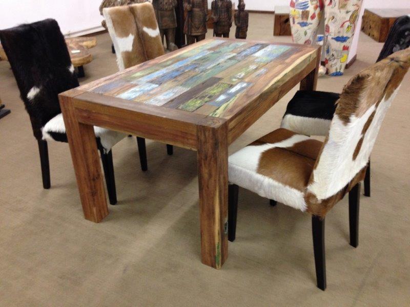 esstisch aus recyceltem massivholz boatwood der tischonkel. Black Bedroom Furniture Sets. Home Design Ideas