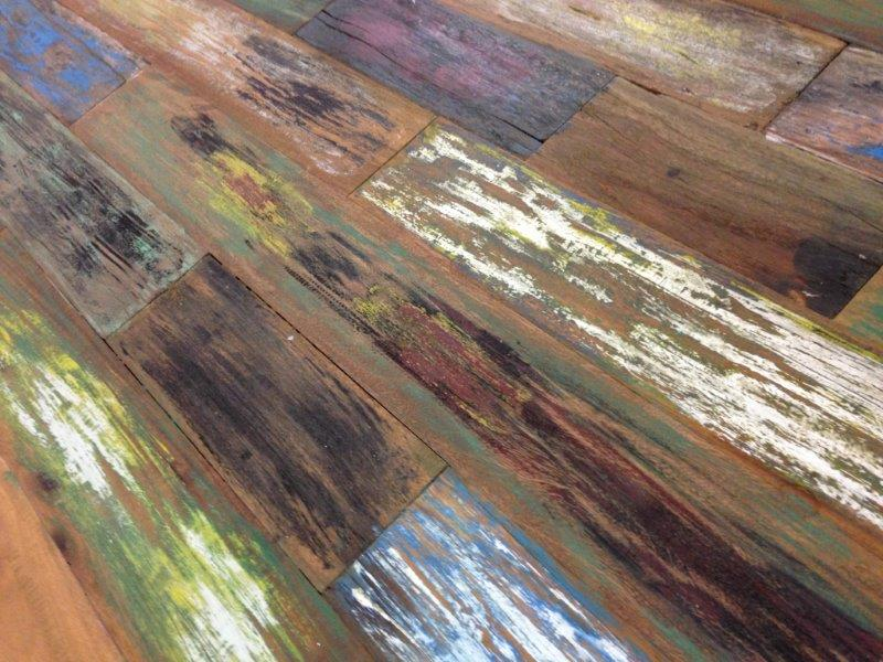 "Esstisch aus recyceltem Holz ""Boatwood"" (180 x 90 cm)"
