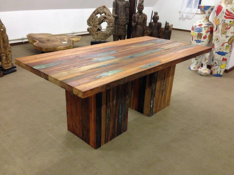 massivholztisch esstisch bootsholz boatwood der tischonkel. Black Bedroom Furniture Sets. Home Design Ideas