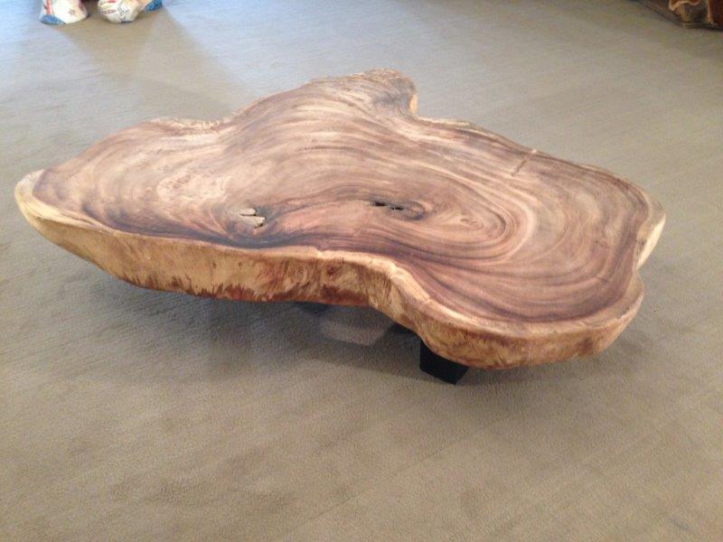 Wohnzimmertisch Aus Einer Baumscheibe Der Tischonkel