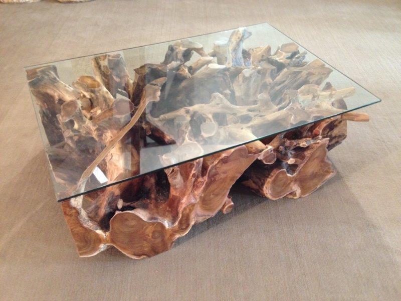 Teak Wurzel Tisch couchtisch / wohnzimmertisch aus einer baumwurzel : der tischonkel