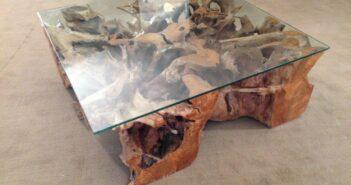 Tisch Baumwurzel 100 x 100 cm