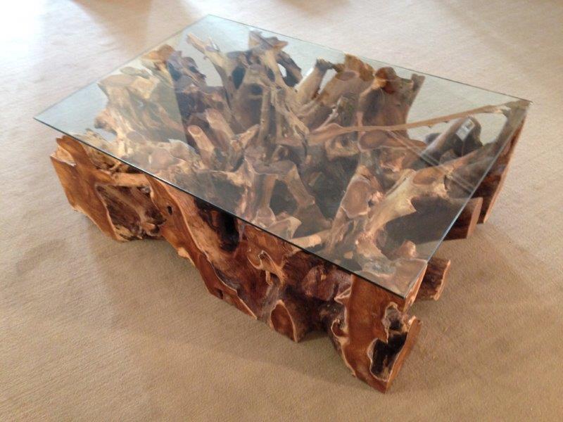 couchtisch wohnzimmertisch aus einer baumwurzel der. Black Bedroom Furniture Sets. Home Design Ideas