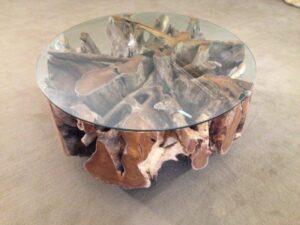couchtisch mit tischplatte aus einem baumstamm der tischonkel. Black Bedroom Furniture Sets. Home Design Ideas