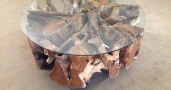 Tisch Baumwurzel rund 100 cm