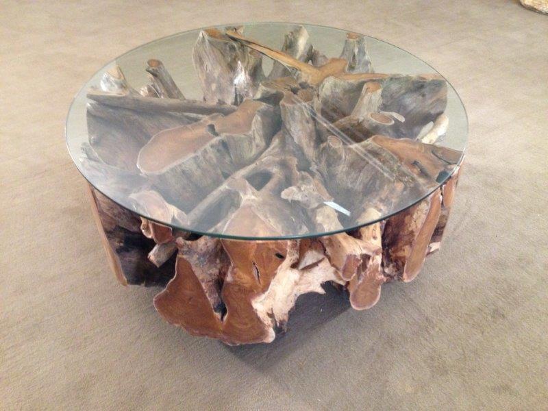 wohnzimmertisch baumwurzel der tischonkel. Black Bedroom Furniture Sets. Home Design Ideas