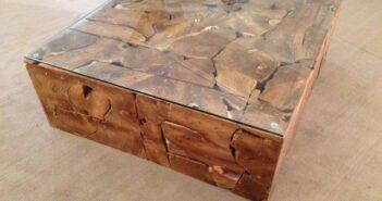 Tisch Wurzelholz 100 x 100 cm