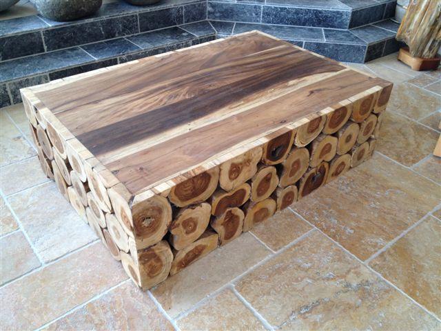 Couchtisch aus Massivholz  Der Tischonkel -> Couchtisch Rund Baumstamm