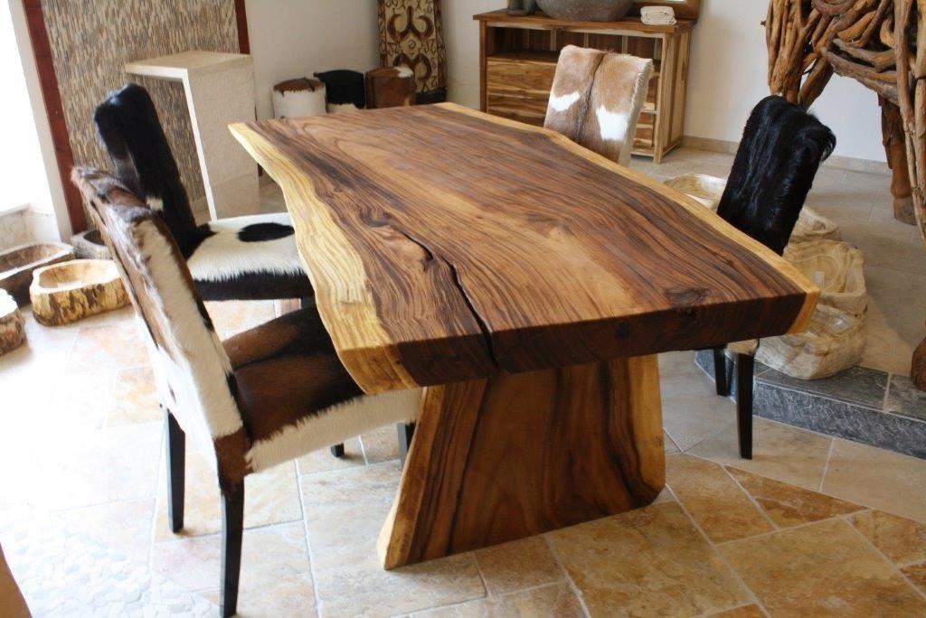 Massivholztisch baumstamm suar der tischonkel for Holztisch massiv design