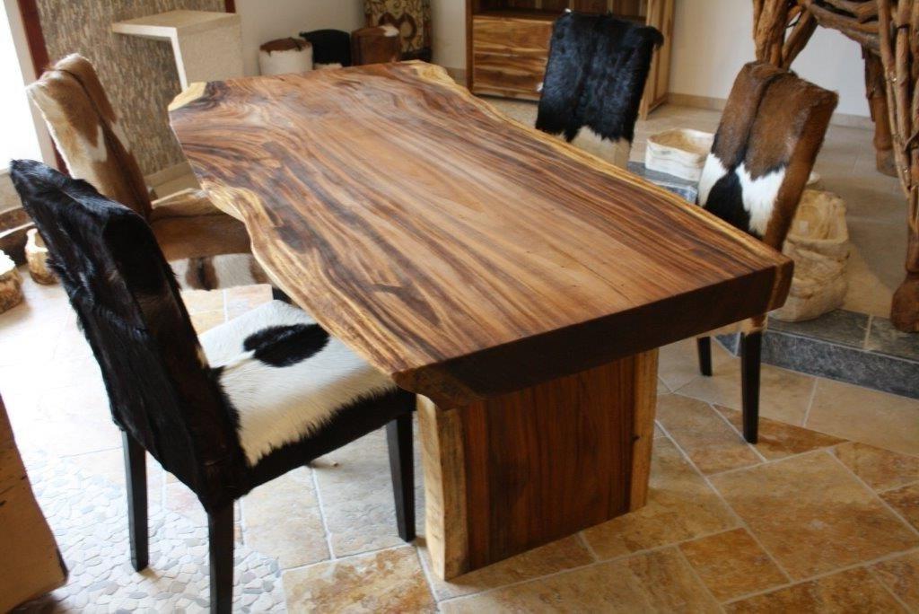 Tisch baumstamm massiv suar der tischonkel for Grosser esstisch massiv