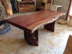Esstischplatte Baumstamm