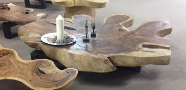 Couchtisch Baumstamm Einzelstuck Der Tischonkel