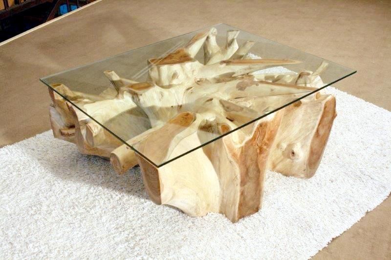 tisch baumwurzel mit glasplatte der tischonkel. Black Bedroom Furniture Sets. Home Design Ideas