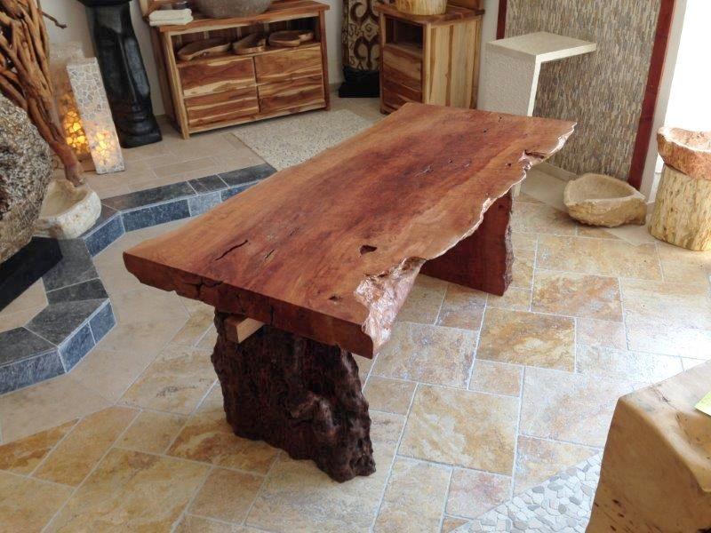 Esstisch Lychee ~ Tischplatte  Esstisch aus einer Baumscheibe  Der Tischonkel