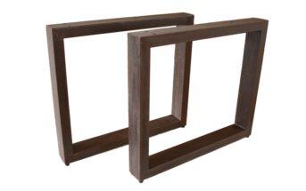 Tischbeine / Tischgestell aus Stahl verrostet und lackiert