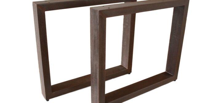 Tischbeine / Tischgestell aus Stahl (Rost) TB101