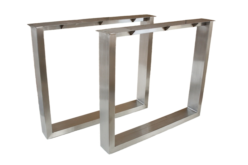 tischbeine tischgestell aus edelstahl geb rstet tb102 der tischonkel. Black Bedroom Furniture Sets. Home Design Ideas