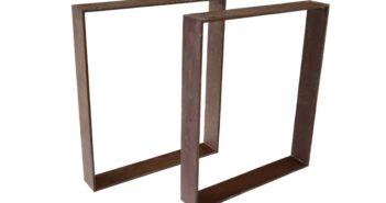 Tischbeine / Tischgestell aus Stahl (Rost)