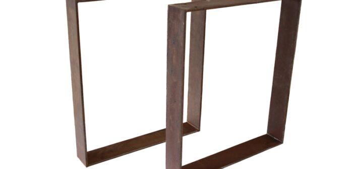 Tischbeine / Tischgestell aus Stahl (Rost) TB103