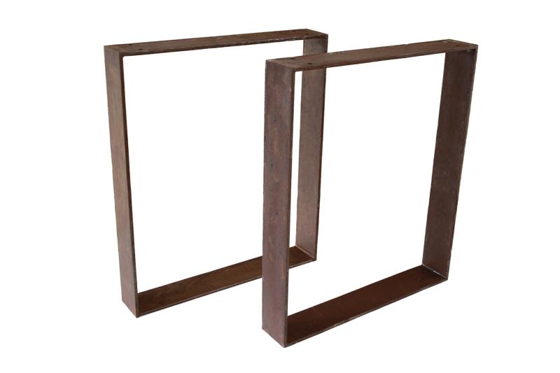 tischbeine tischgestell aus stahl rost tb103 der tischonkel. Black Bedroom Furniture Sets. Home Design Ideas
