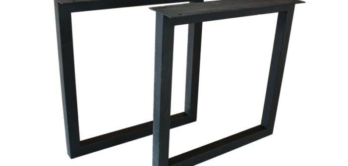 Tischbeine / Tischgestell aus schwarz lackiertem Stahl TB104