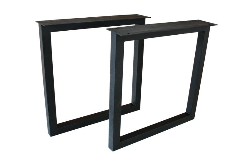 tischbeine tischgestell aus schwarz lackiertem stahl tb104 der tischonkel. Black Bedroom Furniture Sets. Home Design Ideas