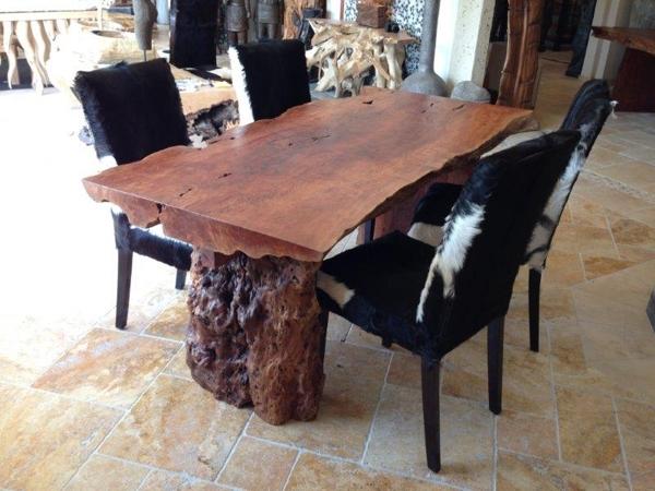 Esstisch aus einem Baumstamm : Der Tischonkel
