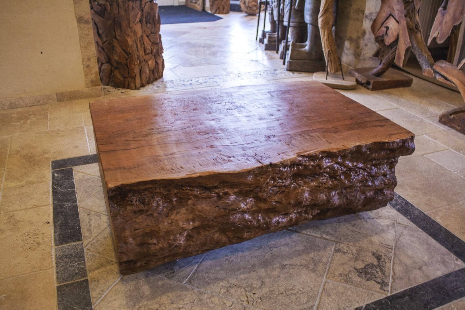 Couchtisch Baumstamm (100 x 80 cm)  Der Tischonkel