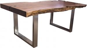 Tisch Baumstamm Lychee