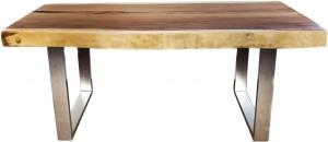 Massivholztisch aus einem Baumstamm