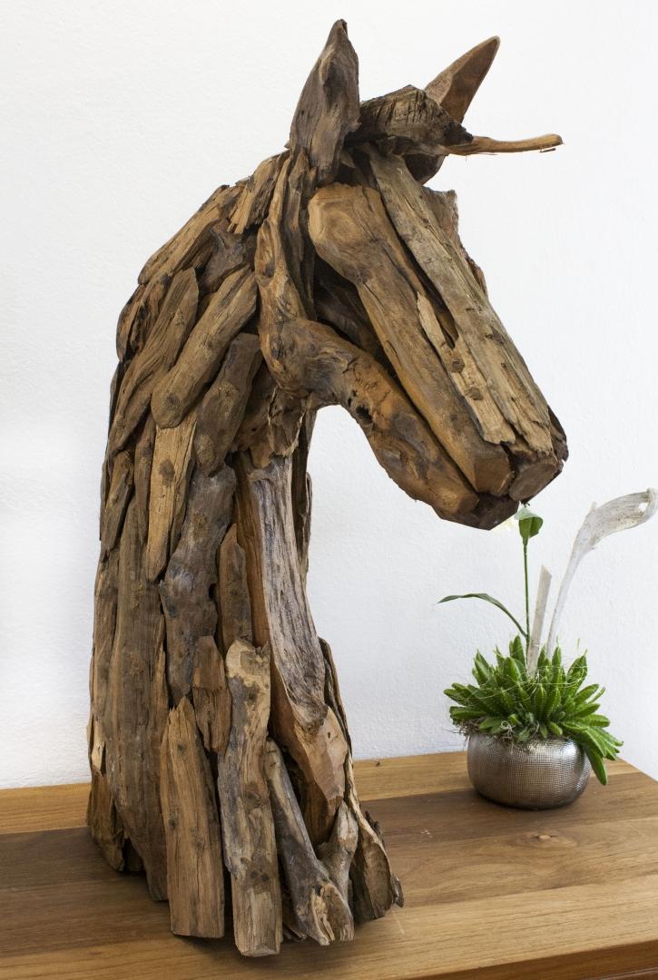 pferdekopf aus recyceltem holz der tischonkel. Black Bedroom Furniture Sets. Home Design Ideas
