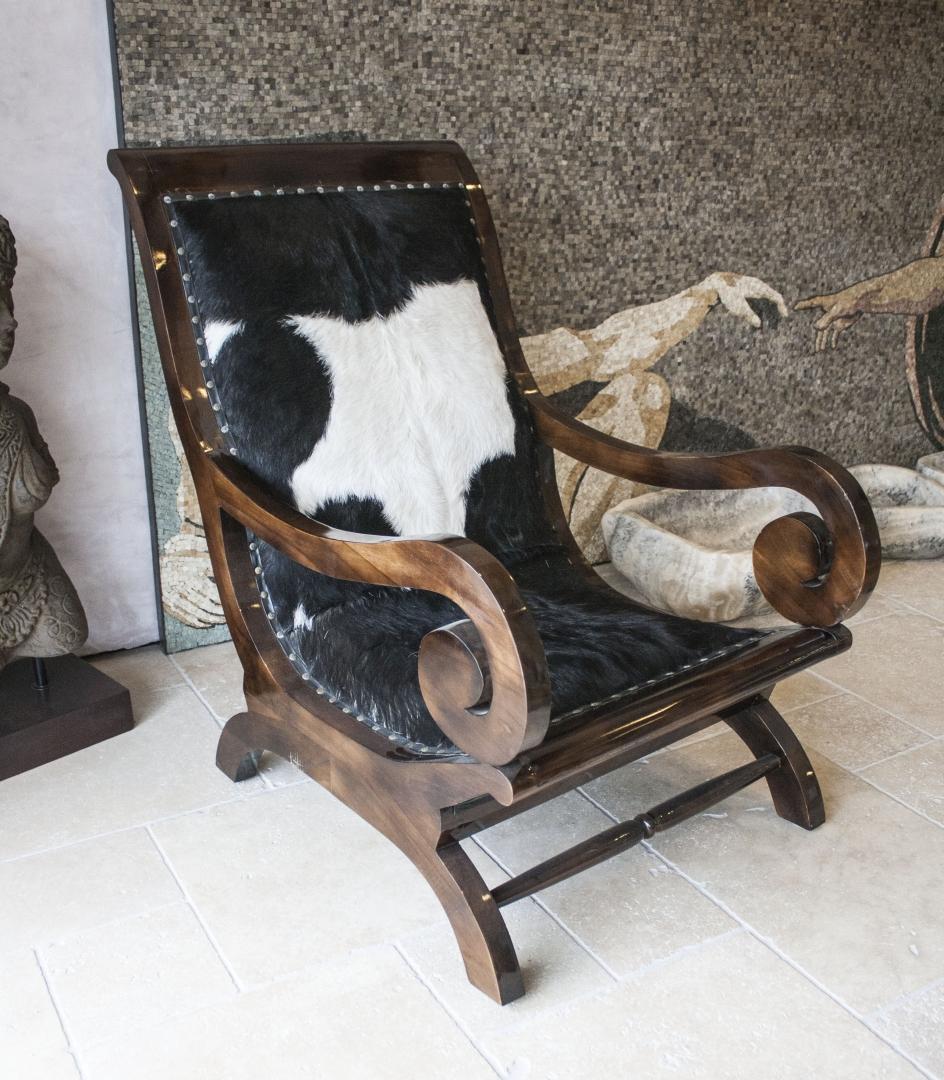 Sessel Kitzbuhel Mit Echtem Fellbezug Aus Ziegenfell Der Tischonkel