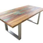 esstisch aus recyceltem massivholz der tischonkel. Black Bedroom Furniture Sets. Home Design Ideas