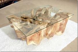 designer couchtisch baumscheibe mit glas der tischonkel. Black Bedroom Furniture Sets. Home Design Ideas