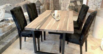 Esstisch aus Massivholz 160 x 80 cm