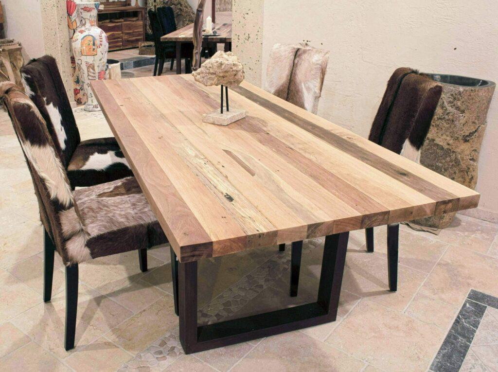esstisch mit tischgestell aus rohstahl 240 x 100 cm der. Black Bedroom Furniture Sets. Home Design Ideas