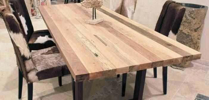 Tischgestell aus Rohstahl