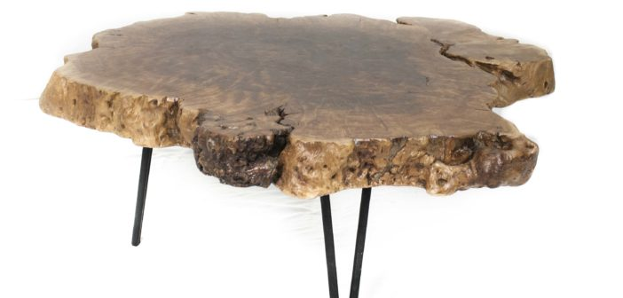 Couchtisch Beistelltisch Stammholz