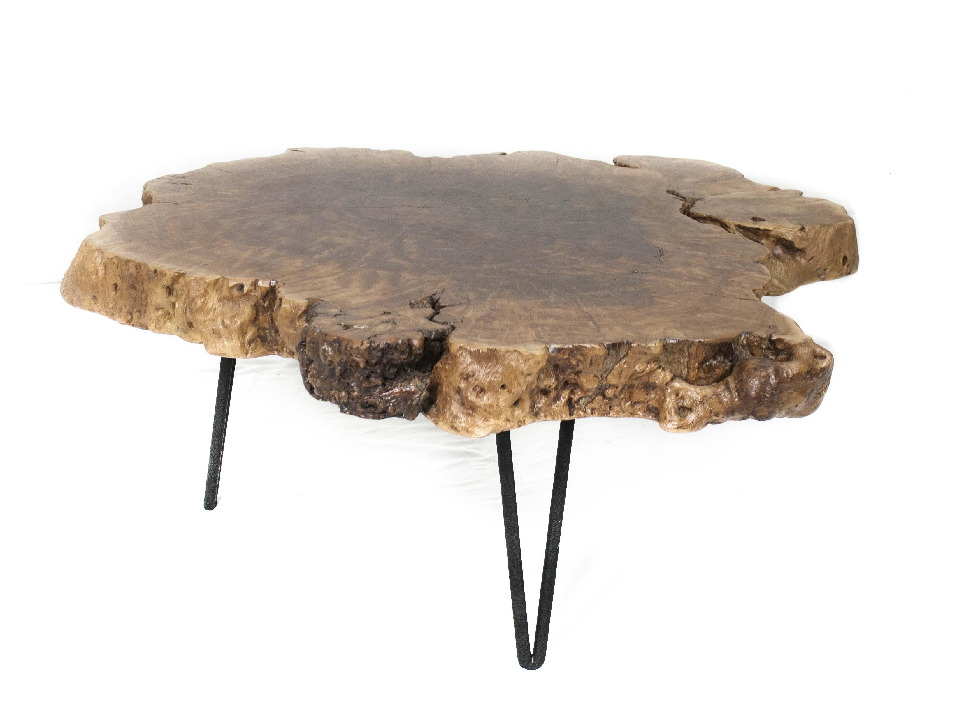 Beistelltisch Couchtisch Stammholz  Der Tischonkel # Beistelltisch
