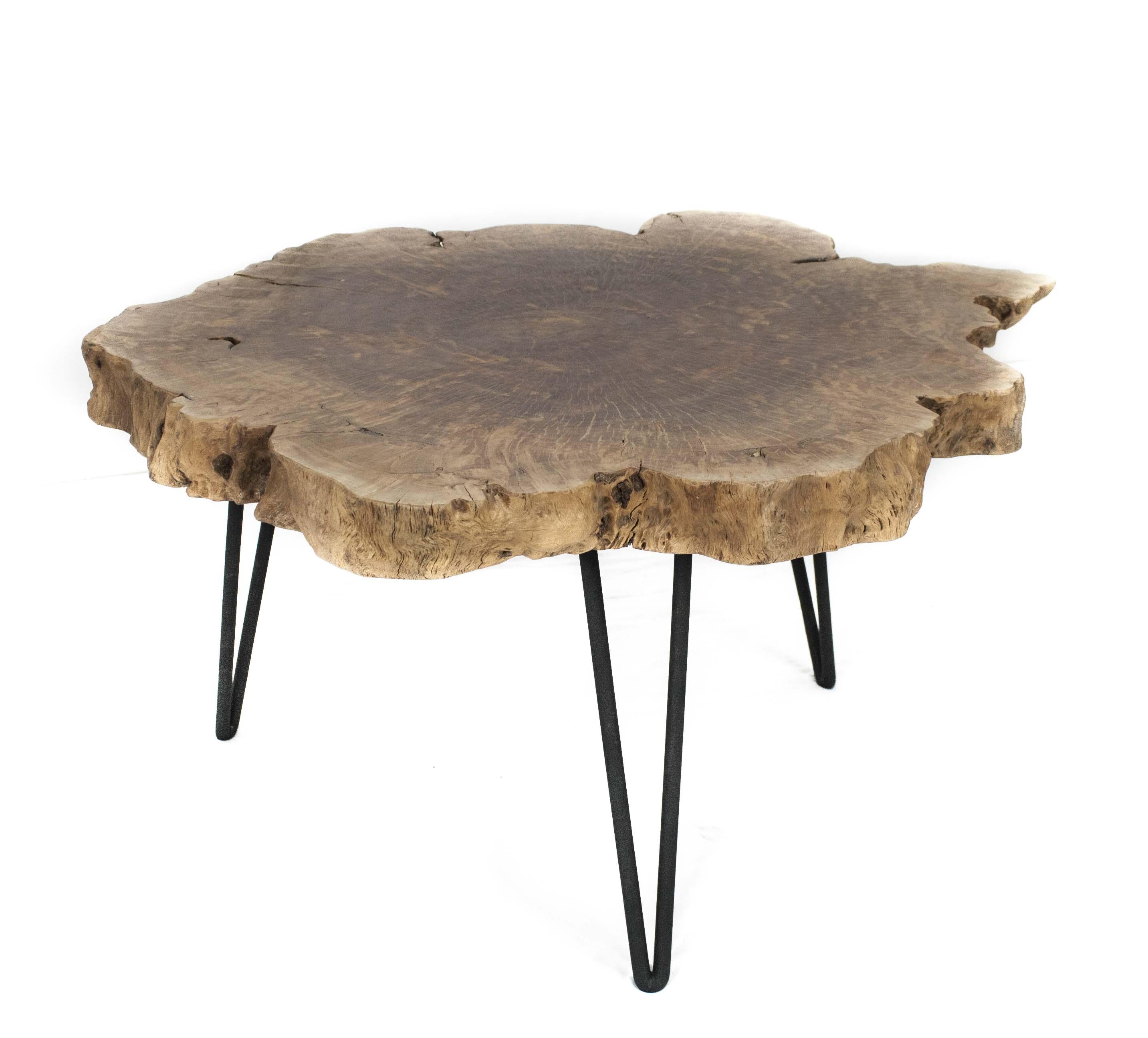 beistelltisch couchtisch stammholz : der tischonkel