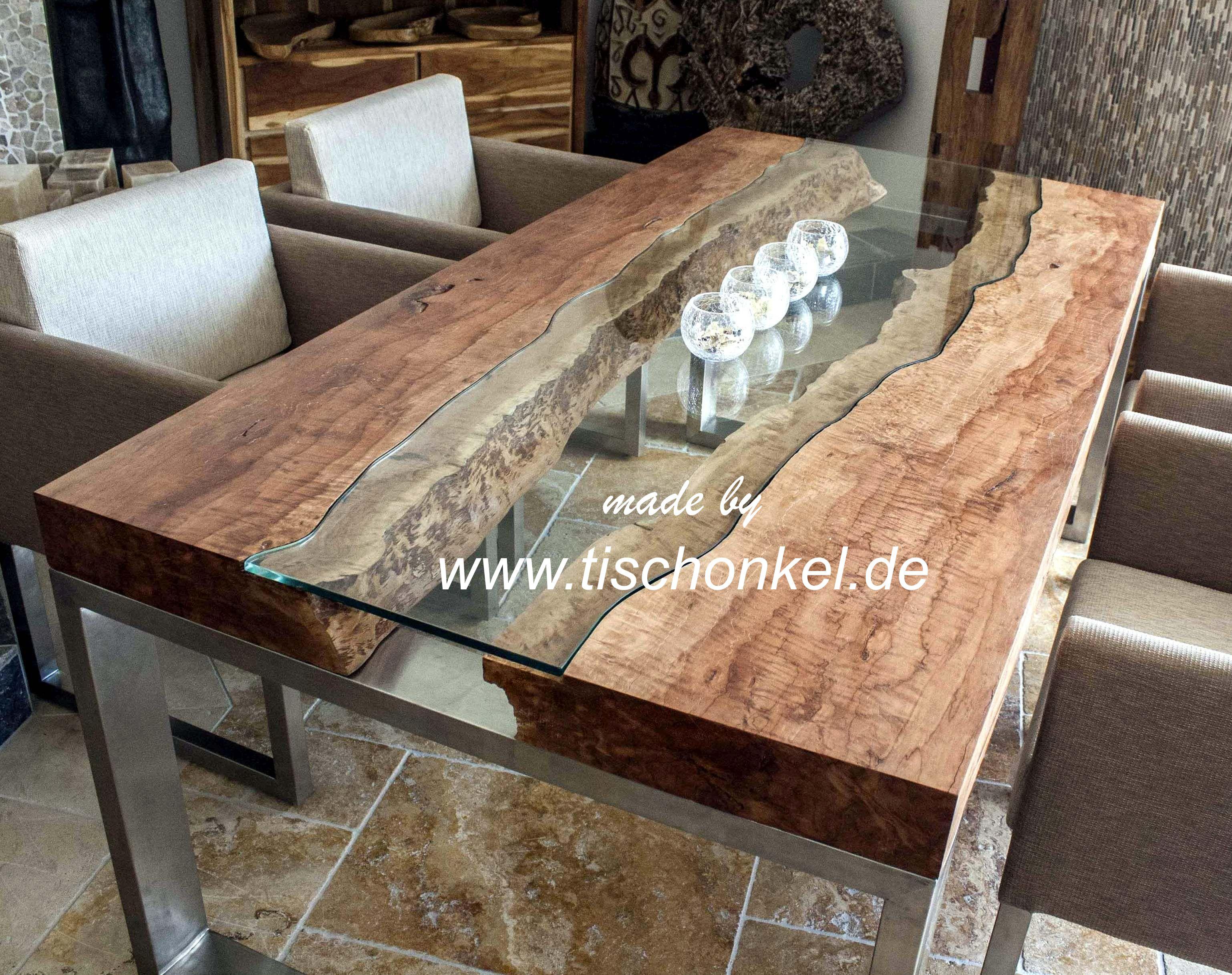 Designtisch mit kunstvoller glasplatte for Tisch design gebraucht