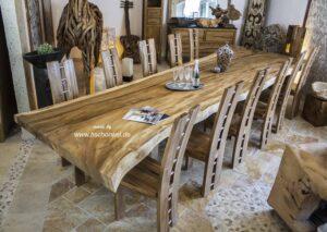 Esstisch Konferenztisch aus einem Baumstamm