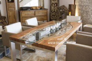 esstisch elements aus massivholz edelstahl und glas der tischonkel. Black Bedroom Furniture Sets. Home Design Ideas