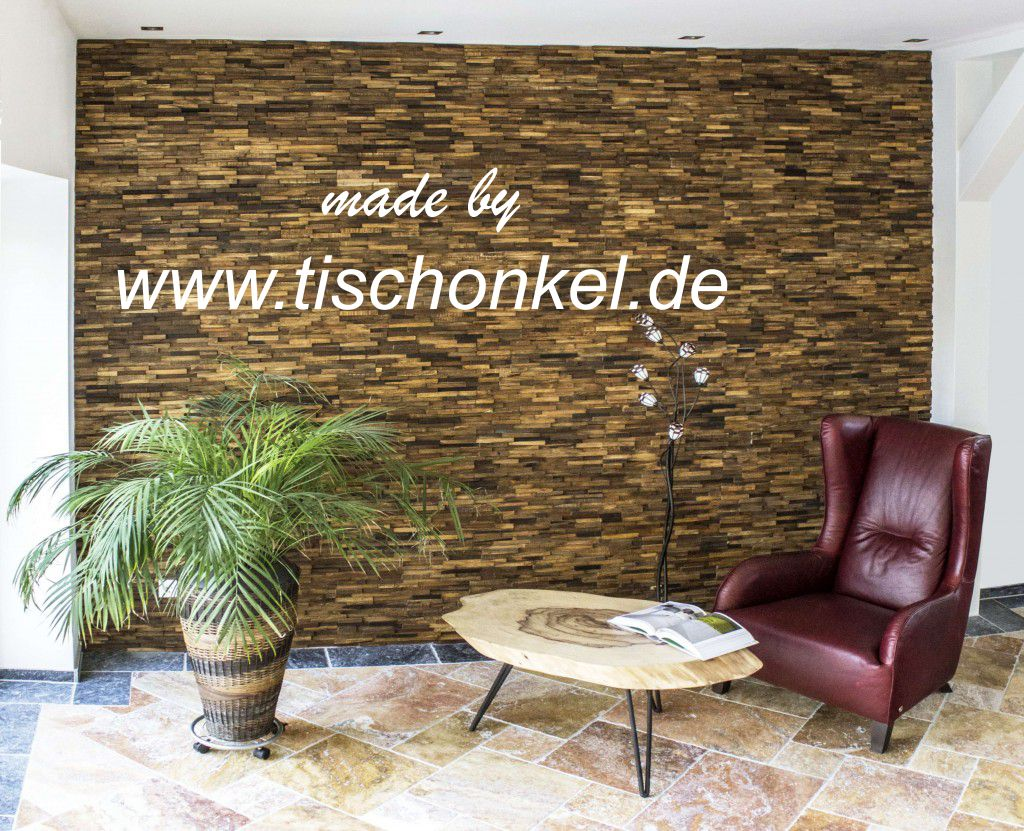 wandverkleidung aus recyceltem holz der tischonkel. Black Bedroom Furniture Sets. Home Design Ideas