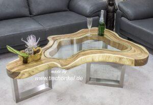 couchtisch clash aus einem baumstamm der tischonkel. Black Bedroom Furniture Sets. Home Design Ideas