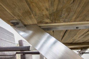 """Esstisch aus recyceltem Holz von """"GERKEN naturstein & wohndesign"""""""