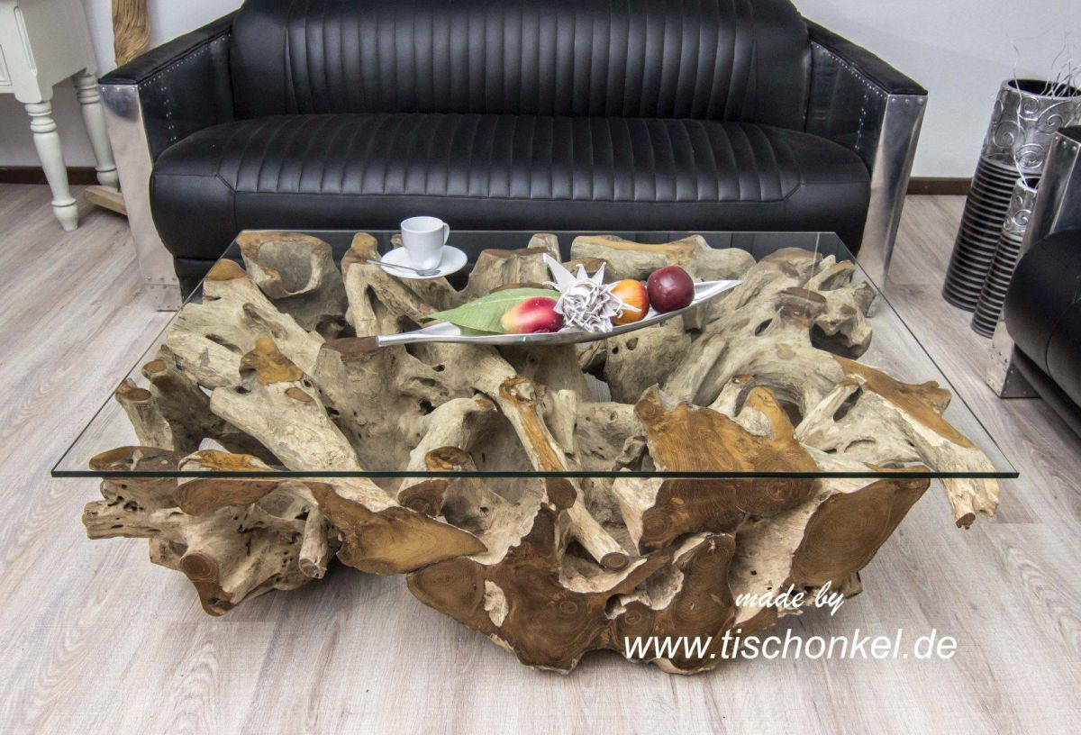 Couchtisch aus Wurzelholz  Der Tischonkel  Der Tischonkel