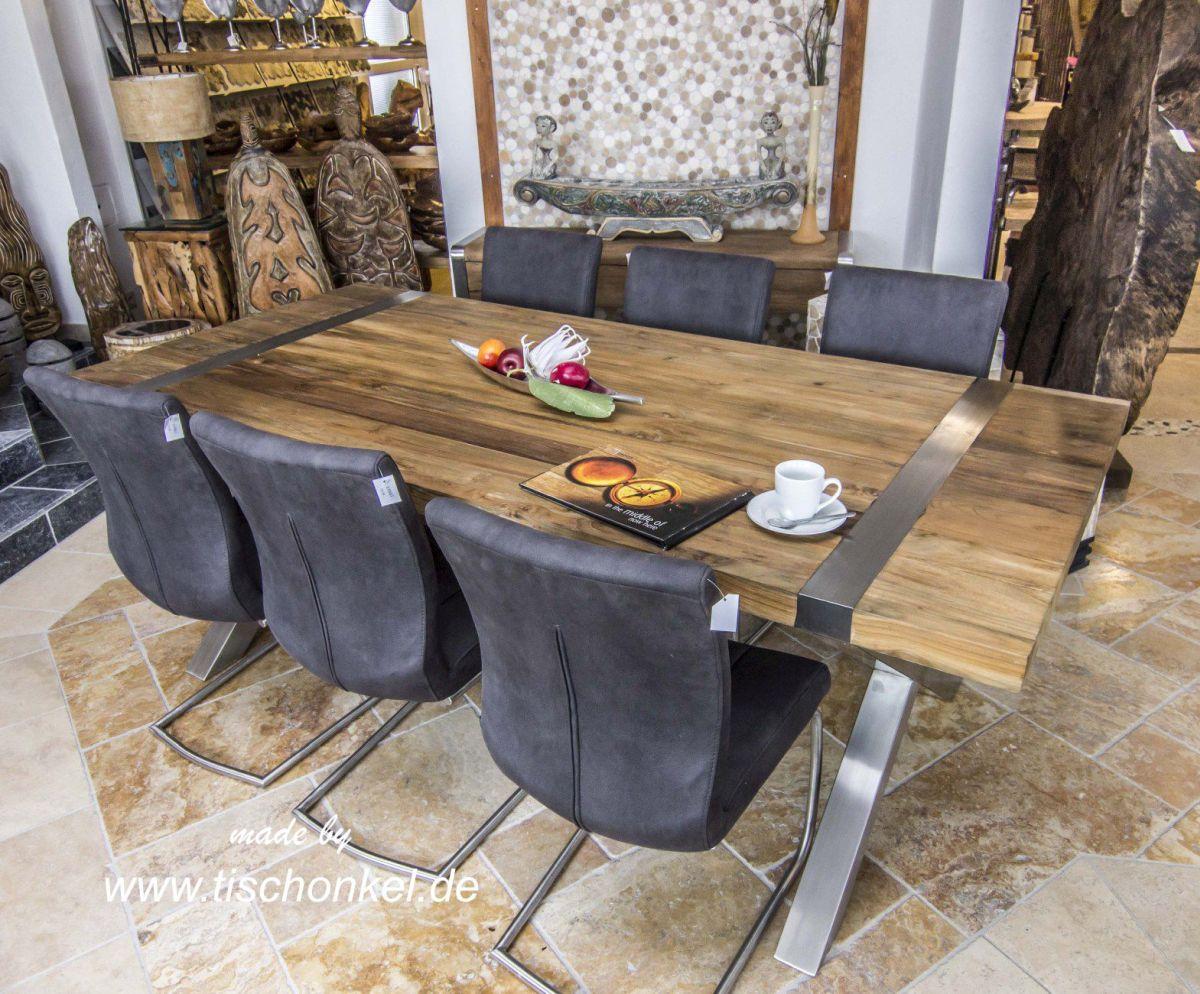 esstisch aus altholz der tischonkel. Black Bedroom Furniture Sets. Home Design Ideas