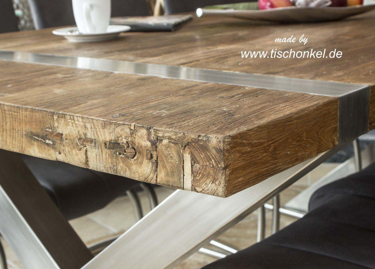Esstisch Altholz Stahl ~ Esstisch aus Altholz  Der Tischonkel